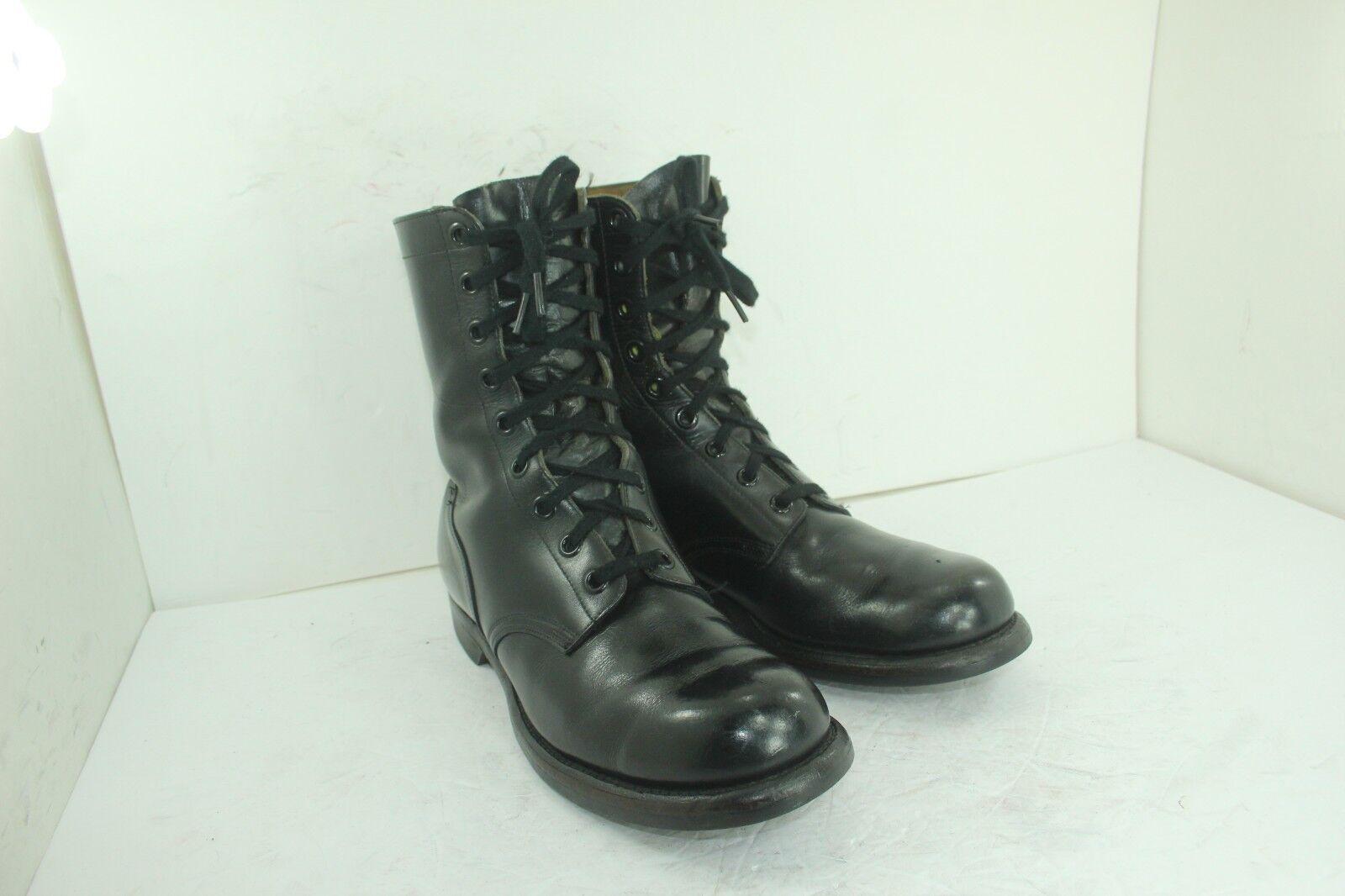 Zapatos botas militares Internacional Co. R Negro Hecho en EE. UU.
