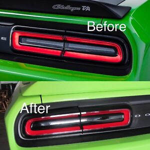 2015 2018 dodge challenger tail light precut tint cover. Black Bedroom Furniture Sets. Home Design Ideas