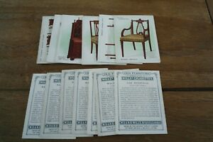 Wills-Old-Furniture-Cards-From-1923-1st-Series-VGC-Pick-The-Cards-You-Need