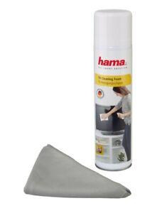 Hama-Reinigungsschaum-Tuch-Spray-400ml-Reiniger-fuer-LCD-LED-TV-TFT-Bildschirm