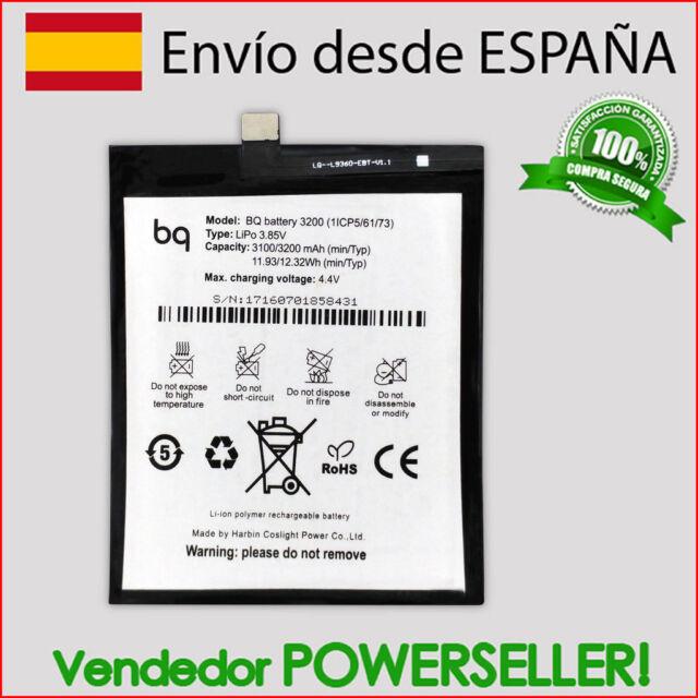 Bateria para BQ Aquaris X5 Plus / Model 1ICP5/61/73 | Capacidad 3200mAh