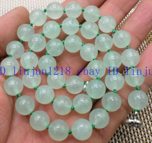 "Nouveau 8//10//12mm Lumière Naturelle Vert émeraude gemme perles rondes Collier 18/"" AAA"