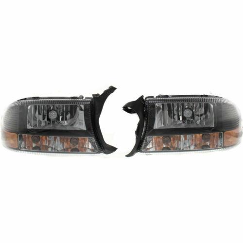 NEW HEAD LAMP LENS AND HOUSING SET OF 2 LH /& RH FITS DODGE DAKOTA CH2505114