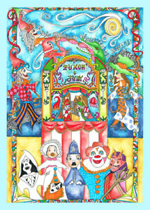 Punch And Judy Limited Edition Print By Sarah Jane Holt
