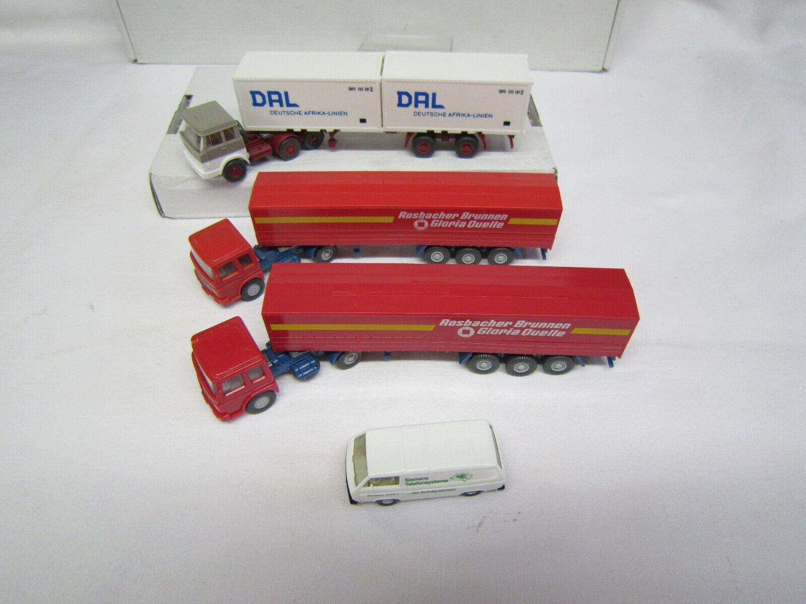 Wiking h0 liasse diff. Camion transporteur 4 pièces bien conservé sans neuf dans sa boîte  8