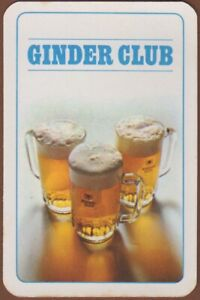 Playing-Cards-Single-Card-Old-MARTINAS-BREWERY-Ginder-Club-Beer-Advertising-Art