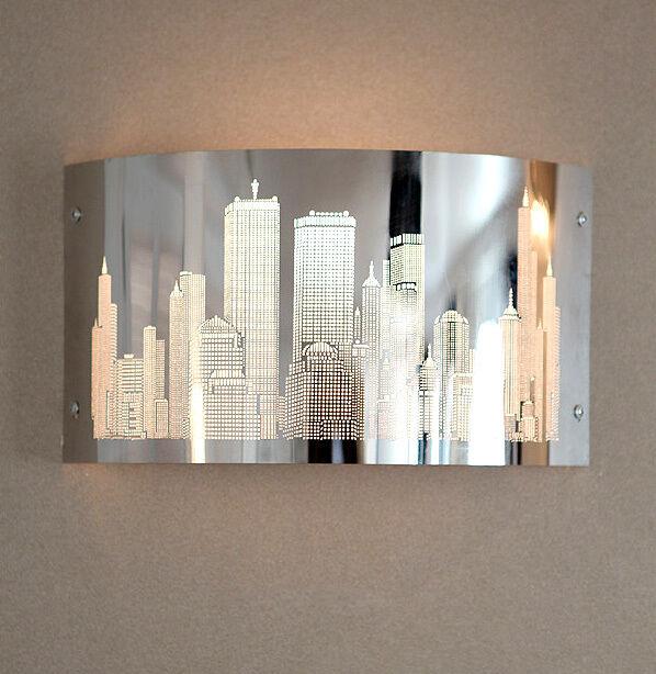 NEW STEEL CITY WALL LIGHT LAMP FIXTURE MODERN SIMPLE SCONCE  PENDANT ANTIQUE