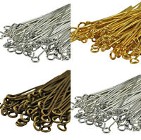 100Pcs Golden Silver Head/Eye/Ball Pins Finding 21 Gauge Any Size New