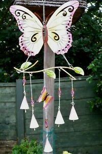 LARGE-BUTTERFLY-WINDCHIME-GARDEN-ORNAMENT-GENTLE-amp-SOOTHING-SOUND