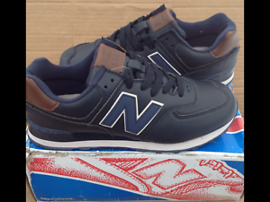 Details about New Balance 574. Leather is natural . The New. Bluebrown . EUR44, US8.5. UK8