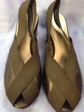 I Love Comfort Black Slip On Sling Back Stretch Heels Shoe Low Pump Size 7 M