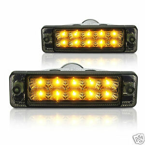 New pair of smoked led indicators lights signals for arb image is loading new pair of smoked led indicators lights signals aloadofball Images