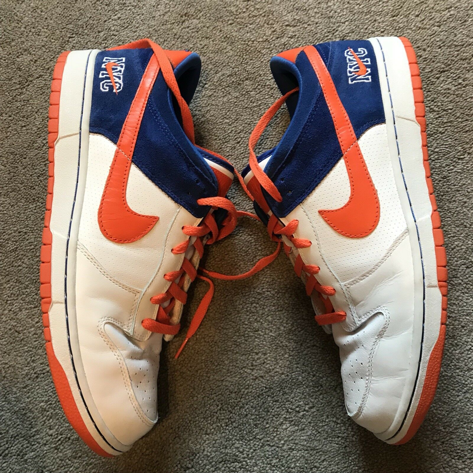 Nike Dunk Low Premium New York Mets Size 12 House Of Hoops Exclusive