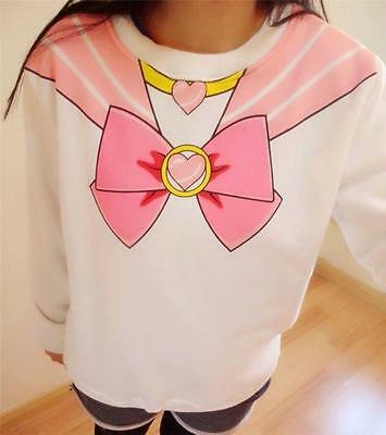 Anime Cute Kawaii Sailor Moon Chibiusa Harajuku Sweater Print Top Japan Cosplay