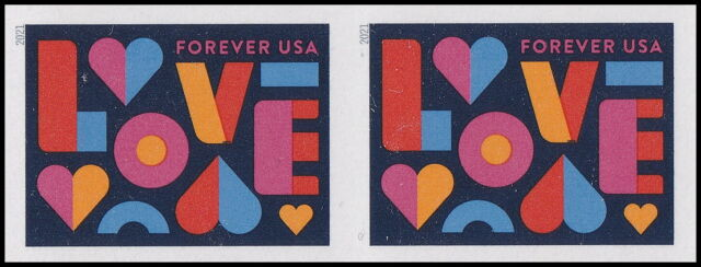US 5543a Love imperf NDC horz pair MNH 2021
