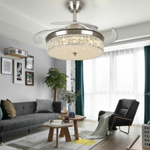 "42/"" Invisible Fan Chandelier LED Deckenleuchte Decken Ventilator Lampe Dimmbar"
