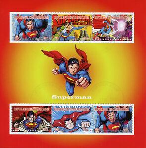 Afrique Centrale Rep 2015 Cto Superman 6 V M/s Cartoons Comics Superhéros Timbres 100% D'Origine