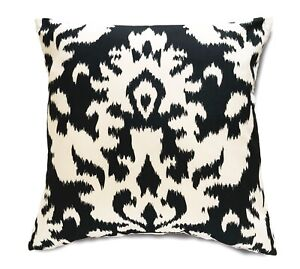 """x2 Throw Pillow Covers Damask Floral Black Brown Gold or Grey Cushion Cases 18"""""""