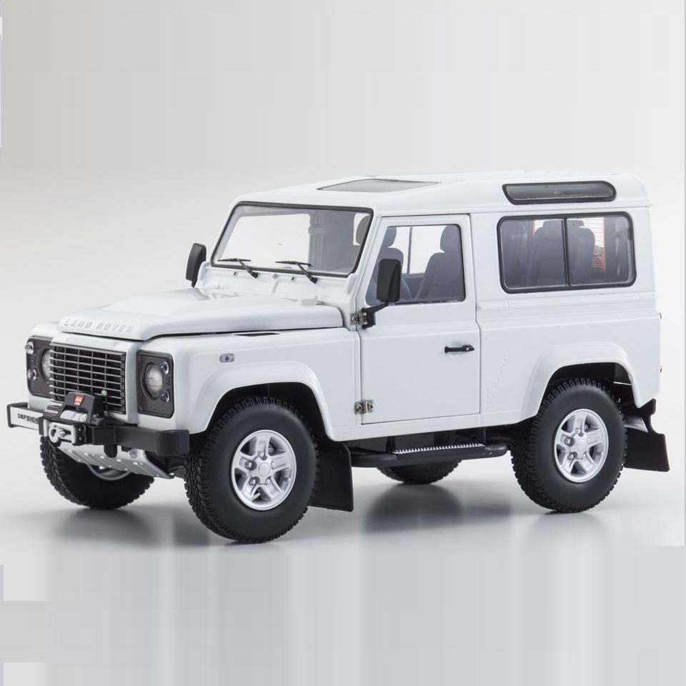 1/18 Kyosho Land Rover Defender 90 Coche Modelo Diecast Fuji Blanco Blanco 08901FW