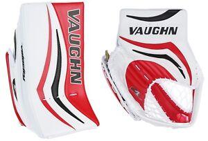 5a41453e147 Vaughn Xr Pro Sr ice hockey goalie blocker glove senior Black Red ...