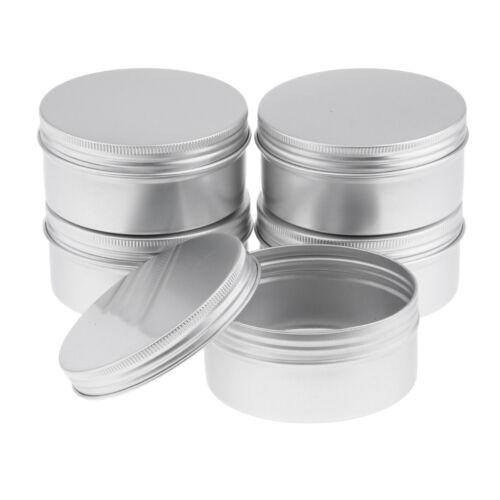 6er pack Aluminiumdosen Leerdose Cremedose Kosmetik Blechdose Schraubdose