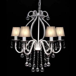vidaXL-Chandelier-with-2300-Crystals-White-Pendant-Light-Lamp-Lighting-Fixture