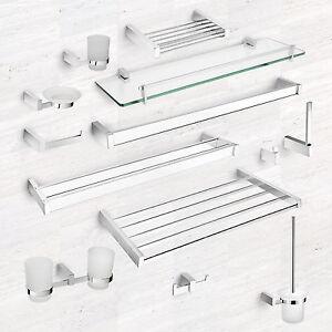 Bathroom Accessories Glass Shelves bathroom accessories wall mounted chrome glass shelves toilet