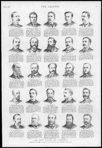 1886-Antique-Print-PORTRAITS-New-House-Commons-O-039-Hea-Bethell-Bigwood-136