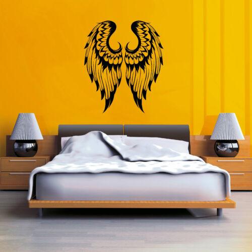 ANGEL WINGS  PAIR GOTHIC vinyl wall art sticker decal