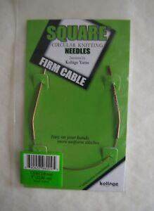 """Kollage Square Circular Knitting Needles 9/"""" ORIGINAL"""