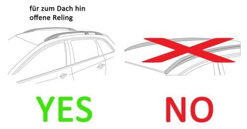 Dachbox VDPMAA320L+Alu Relingträger VDP004XL für VW Touran SW 03-14