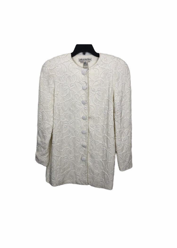 Marie St Claire Long Jacket Vintage Sz 12 Pearl B… - image 2