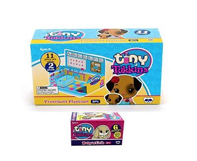 "Tiny Tukkins /"" Doggie Preschool Play Time /"" 11 Piece Set NIB"