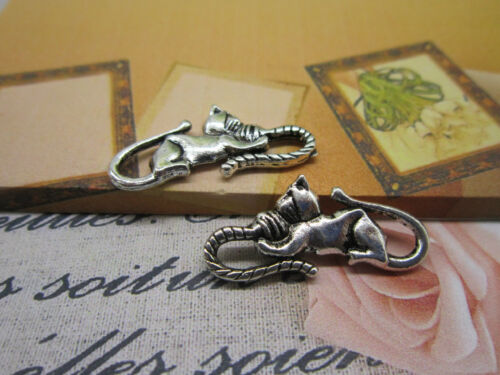 15//45pcs 28c13mm Retro style alloy cute cat charm jewelry pendant accessories