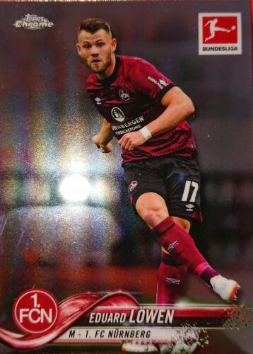 #16 Eduard Löwen Topps Bundesliga Chrome 2019 1.FC Nürnberg