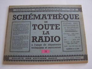 Schematheque De Toute La Radio , Schemas Recepteurs Pour Depanneurs .eo N° 5 . Iihknmb5-08002712-136866116
