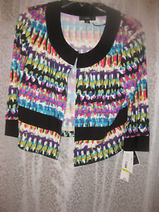 R-amp-K-LADIES-CROPPED-JACKET-COLORFUL-NWT-70-0-SZ-M-ADORABLE