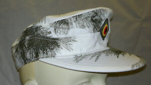 Field Cap         German Army Snow Camo       - Made in Germany