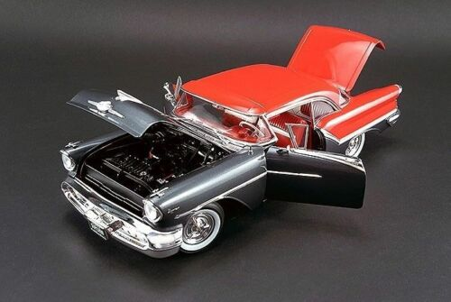 ACME 1957 Oldsmobile Super 88 Charcoal Gray Festival Red 118New Item NICE CAR!