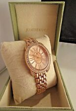 Judith Ripka Watch Classic Statement Monaco Rose Gold Plating w/ Diamonique WOW!