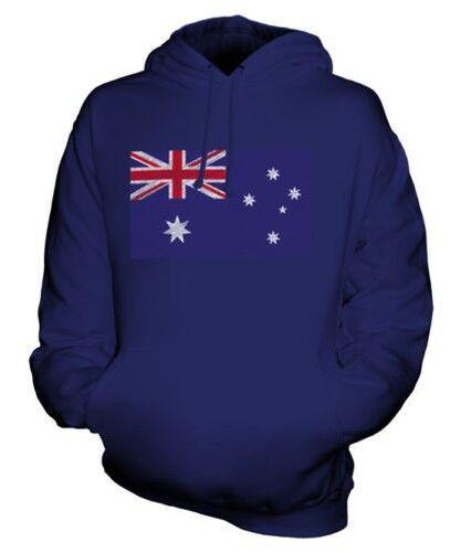 AUSTRALIA SCRIBBLE FLAG UNISEX HOODIE TOP GIFT AUSTRALIAN FOOTBALL