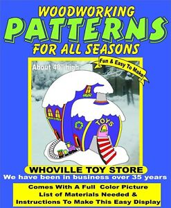 Christmas Yard Decorations Patterns.Details About Grinch Whoville Toy Store Christmas Yard Art Pattern Wood Working Decoration