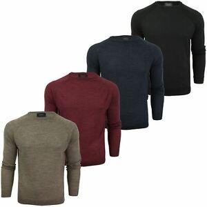 Jersey-para-hombre-ligero-100-lana-por-desgastado-034-Troya-034-Cuello-Redondo