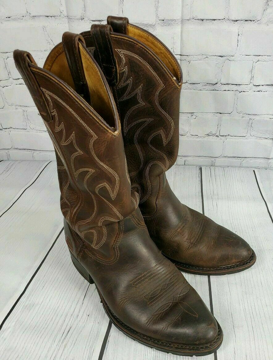 """Double H 12"""" AG7 Work Weatern - Brown Leather Boots sz 7 Brown Leather Aeroglide"""