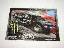 "Monster Energy Terrible Herbst Off Road Racing Team Desert Baja 7""x5"" Promo Card"