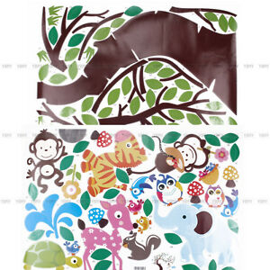 Wall Stickers Child Nursery Decor Home Monkey Tree Vinyl Decal Art Detachable