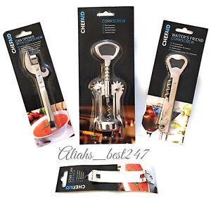 Corkscrew-Wine-Bottle-Opener-Double-Reach-Twin-Pull-Waiter-039-s-Friend-By-Chef-Aid