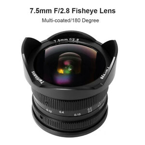 7-artisans-7-5-mm-F2-8-Fisheye-Pour-Sony-A7-A-7-RIII-M4-3-Fuji-GH5-X-T2-Camera