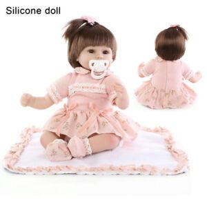 "16"" Reborn Baby Doll Lifelike Soft Silicone Realistic Real Life Dolls Xmas Gift"