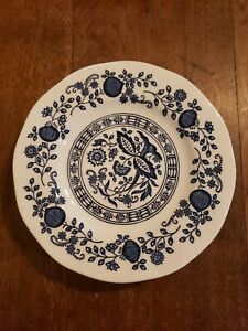 4-Blue-Onion-Bread-amp-Butter-Plate-Tunstall-Enoch-Wedgwood-England-6-034